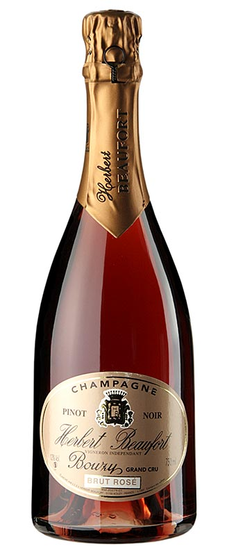 Champagner Herbert Beaufort Rose Grand Cru, brut, 12% vol. - 750 ml - Flasche
