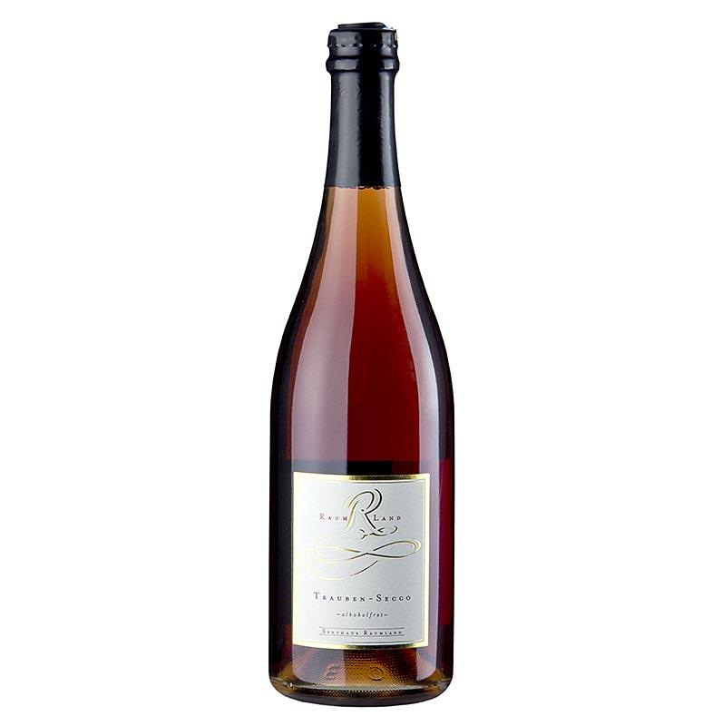 Raumland Traubensecco, rot - perlender Traubensaft, alkoholfrei - 750 ml - Flasche