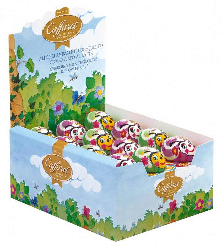 Allegri animaletti di cioccolato, le farfalle, Schmetterlinge aus Vollmilchschokolade, Display, Caffarel - 36 x 10 g - Display