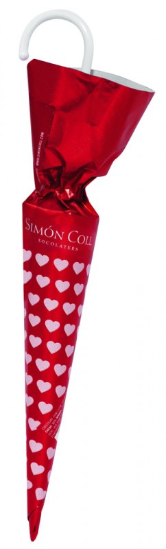 Sombrilla Hearts, Display, Schokoladenschirme, Display, Simon Coll - 30 x 35 g - Display