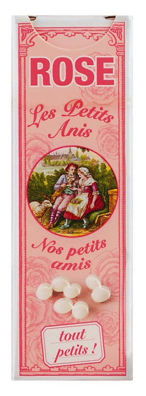 Les petits anis Rose, Rosendragees, Display, Les Anis de Flavigny - 10 x 18 g - Display