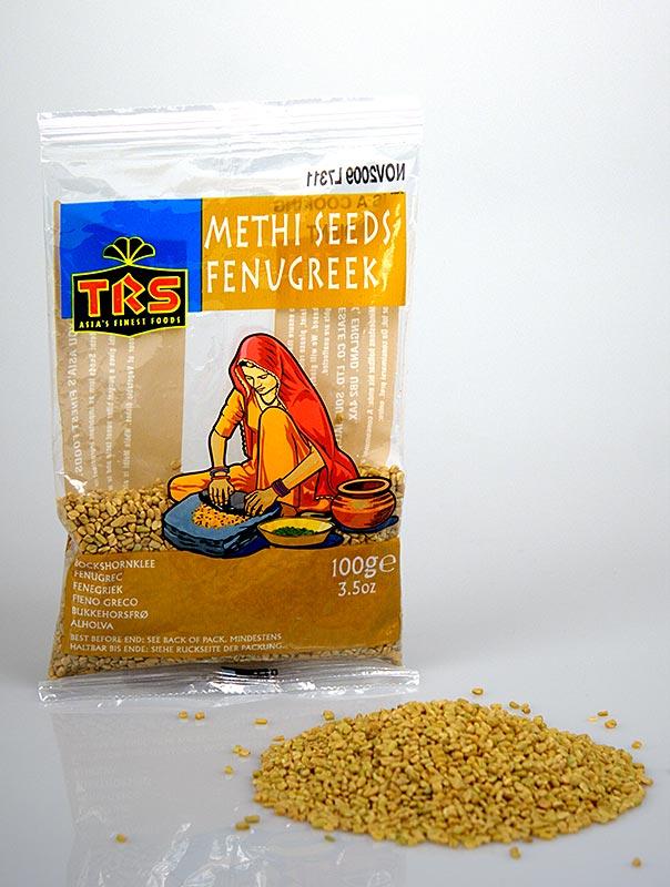 Bockshornkleesamen - vor Gebrauch rösten, Methi Seeds - 100 g - Tüte