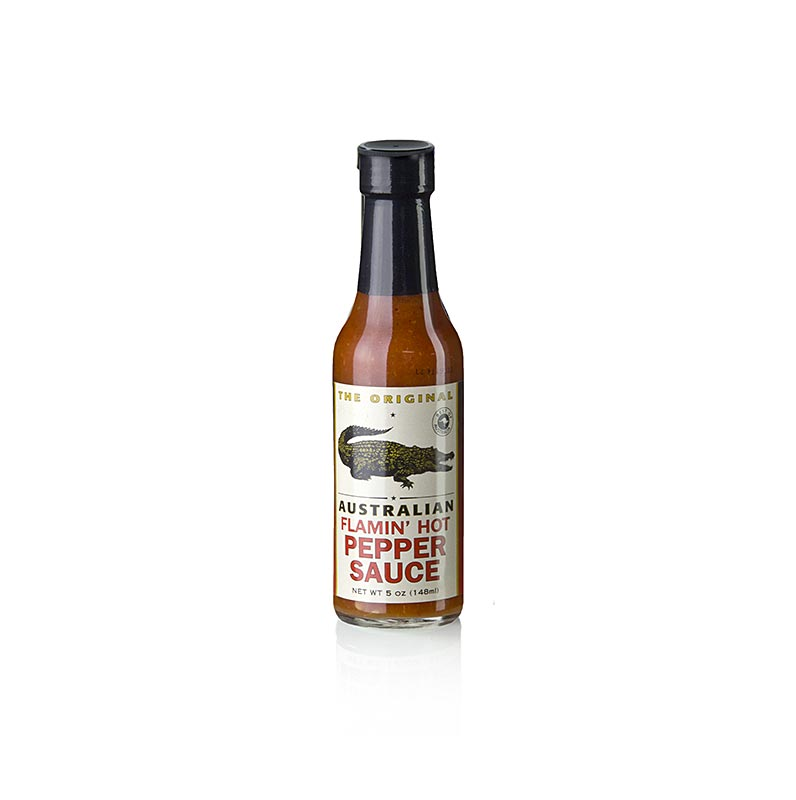 Australian Flamin` Hot Pepper Sauce, von The Original - 148 ml - Flasche