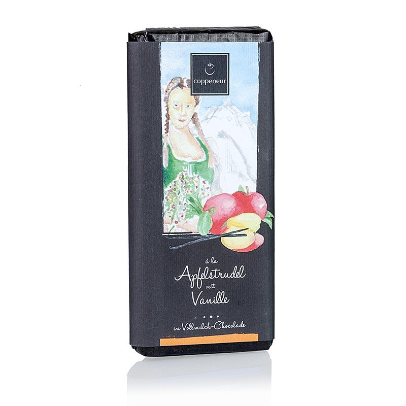 Coppeneur Apfelstrudel mit Vanille, Schokolade, handgeschöpfte Tafel - 75 g - Papier