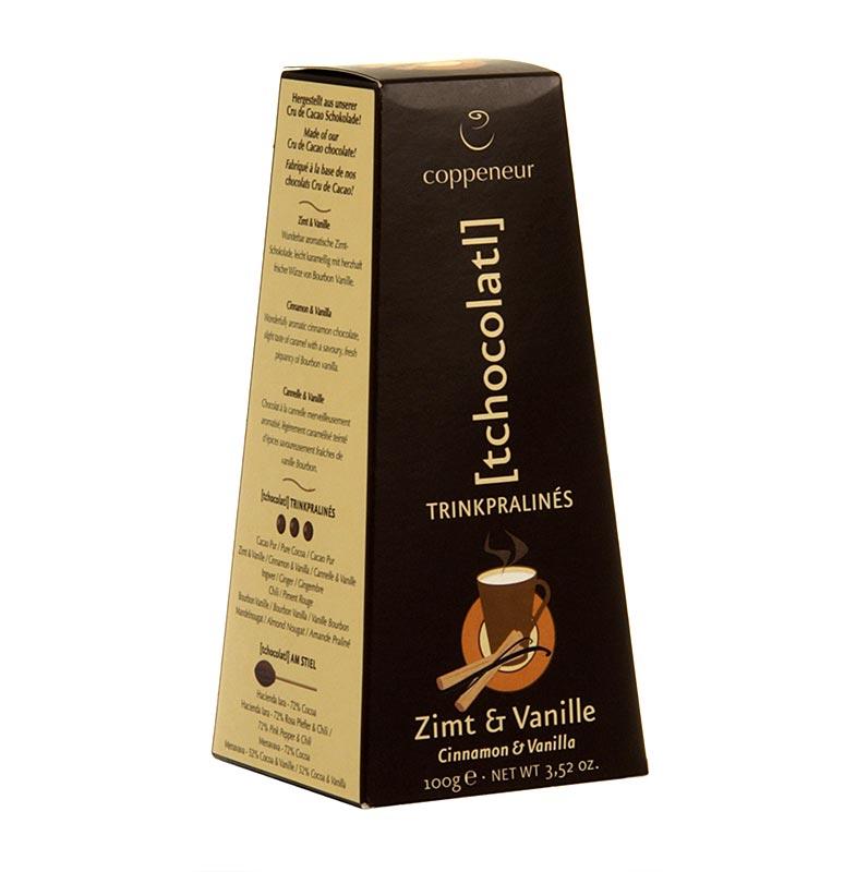 Coppeneur Trinkschokolade-Kugeln, Zimt Vanille, BIO - 100 g - Schachtel