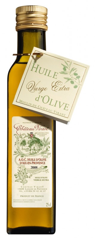 Natives Olivenöl extra Chateau Virant, Huile d` olive vierge extra Chateau Virant, Chateau Virant - 250 ml - Flasche