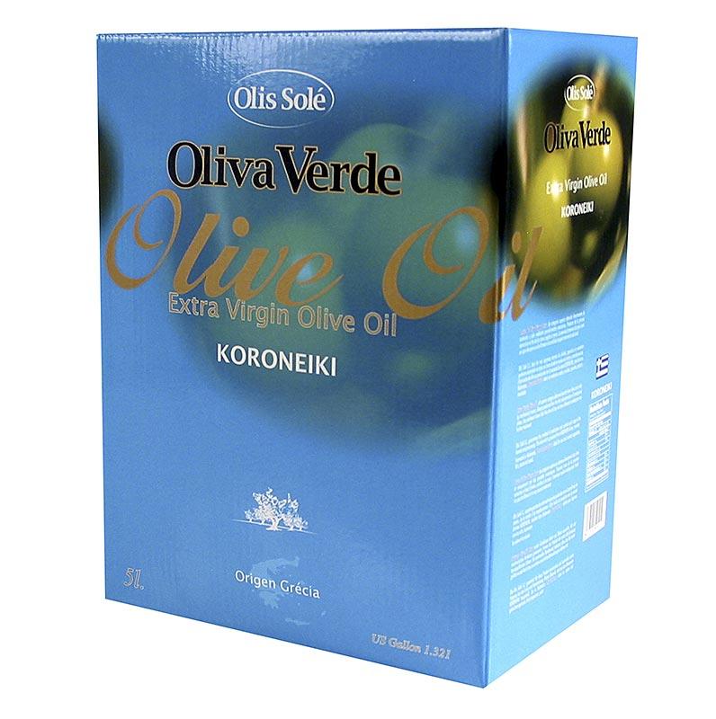 Oliva Verde Olivenöl Extra Nativ, aus Koroneiki Oliven, Peloponnes - 5 l - Bag in box
