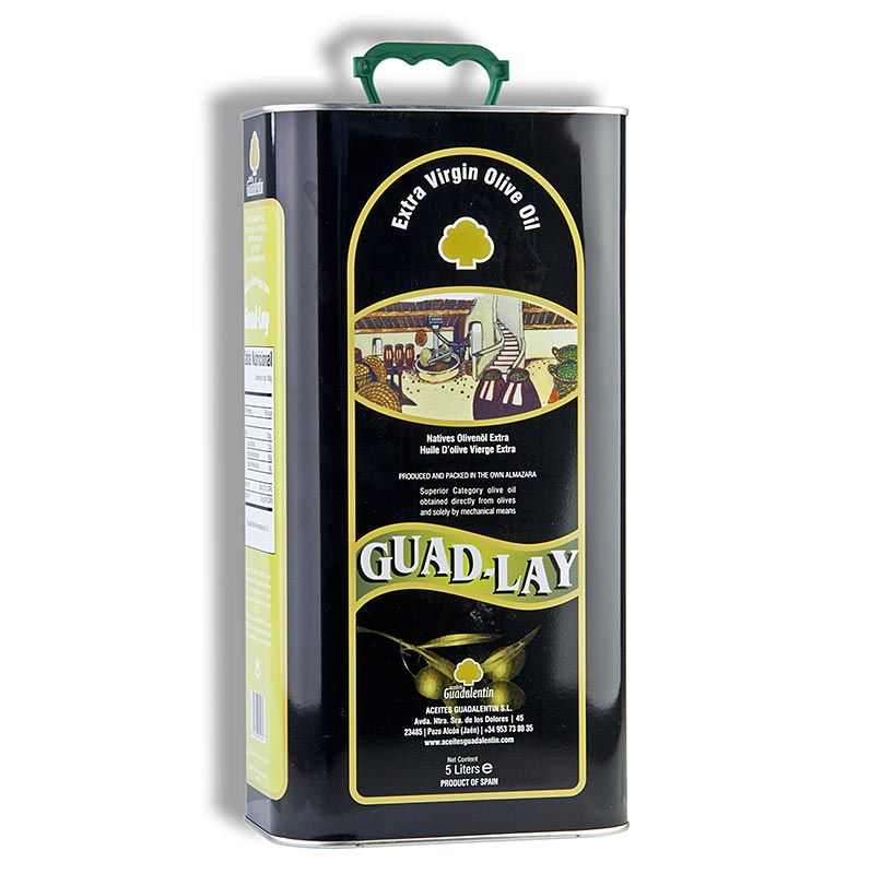 Natives Olivenöl Extra, Aceites Guadalentin Guad Lay, 100% Picual - 5 l - Pe-flasche