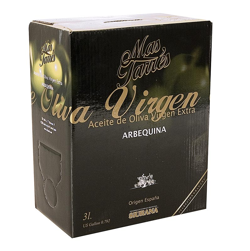 Oliva Verde Mas Tarres, Olivenöl Extra Virgen, Arbequina Oliven, DOP Siurana - 3 l - Bag in box