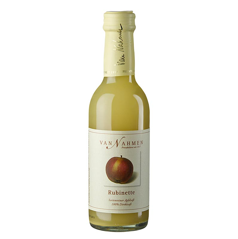 van Nahmen - Rubinette Apfelsaft, 100% Direktsaft - 250 ml - Flasche