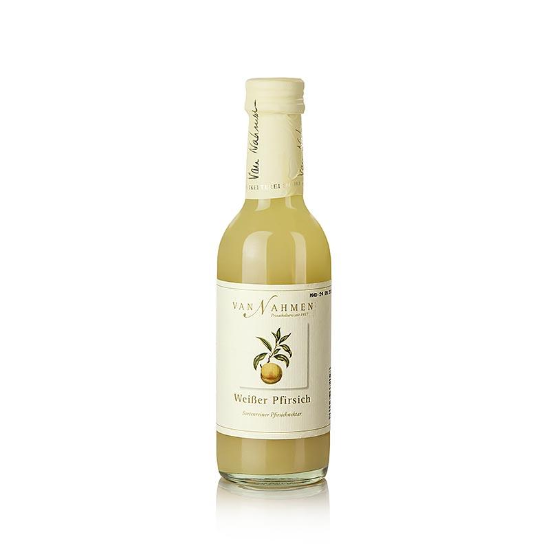 van Nahmen - Weißer Pfirsichnektar vom Frühpfirsich, 45% Direktsaft - 250 ml - Flasche