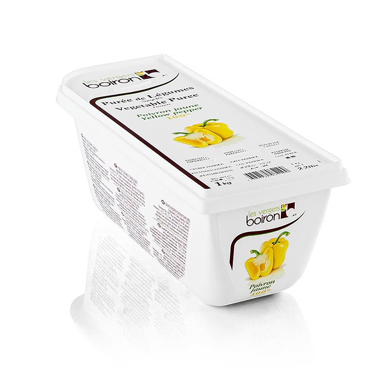 Gelbe Paprika Püree, ungewürzt, Boiron - 1 kg - Pe-schale