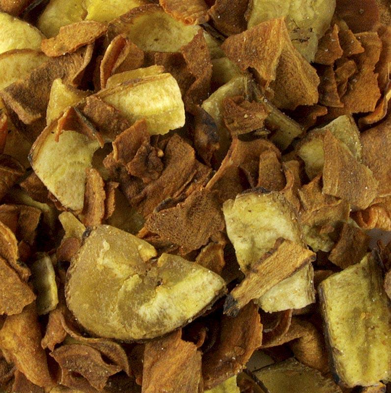 Gemüsechips aus Kochbanane und Süßkartoffel, mit Meersalz Glenanns - 600 g - Eimer