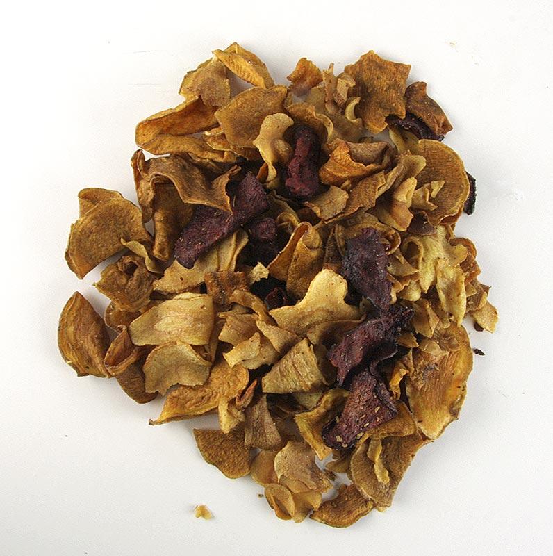 Gemüsechips aus Rote Bete, Süßkartoffel, Karotte, Pastinakenwurzel, mit Meersalz Glenanns - 600 g - Eimer