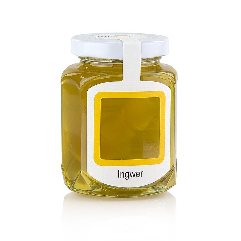 Akazienhonigzubereitung mit getrocknetem Ingwer, imhonig - 250 g - Glas
