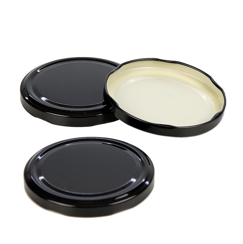 Schwarzer Deckel für Rundglas, 82mm, 1062 ml - 1 St - Lose