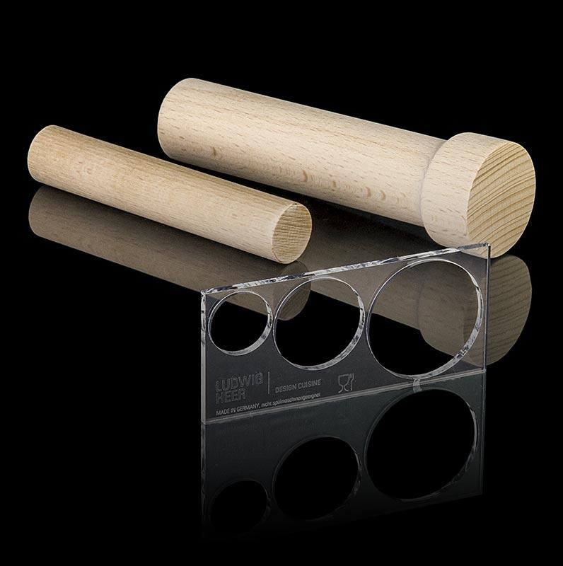 Fillini Maker Unmolding-Set: 2 Holzteile Acrylglas Platte - 3 tlg. - Beutel