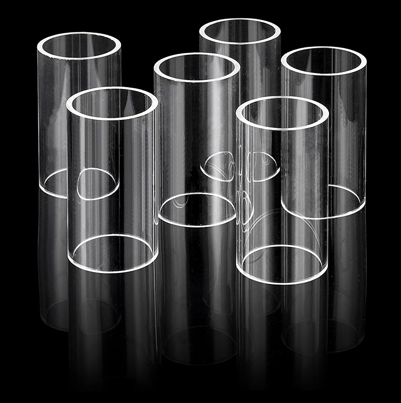 Fillini Maker Acrylglas-Rohre, ø 50mm, 90mm hoch - 6 St - Beutel