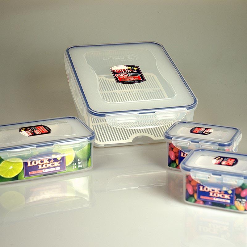 Frischebox Lock & Lock, 4er Set, rechteckig, 2x470ml, 1,0 l und 3,9 l - 4 tlg. - Lose