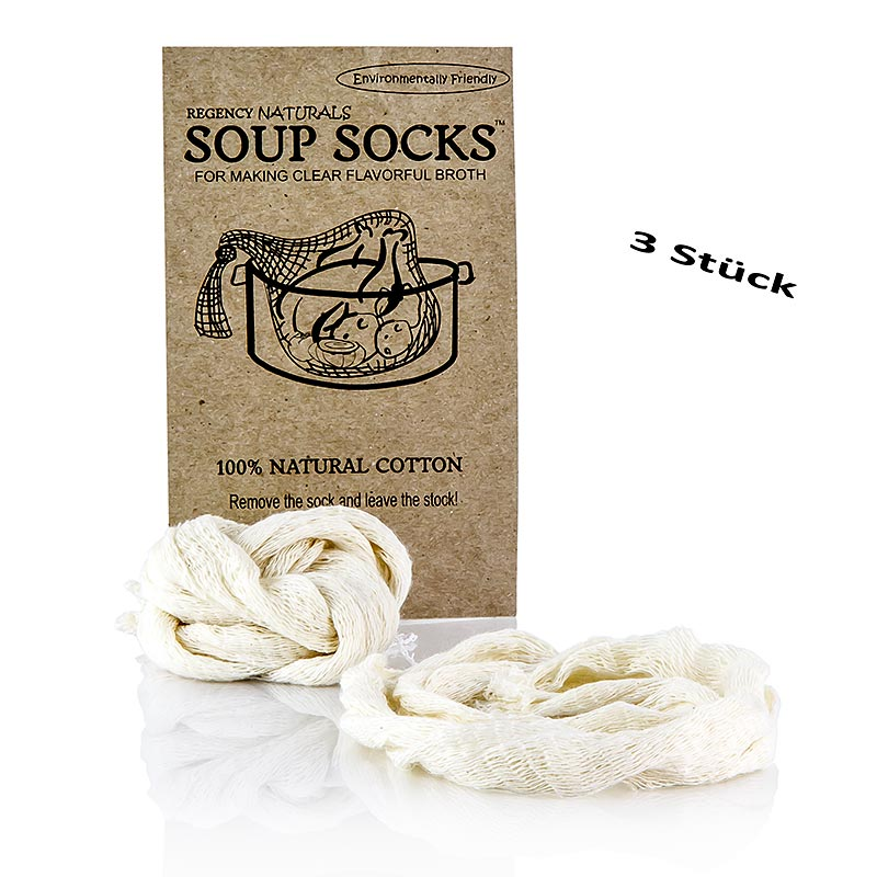 The Original Soup Socks, 100% Naturbaumwolle - 3 St - Beutel
