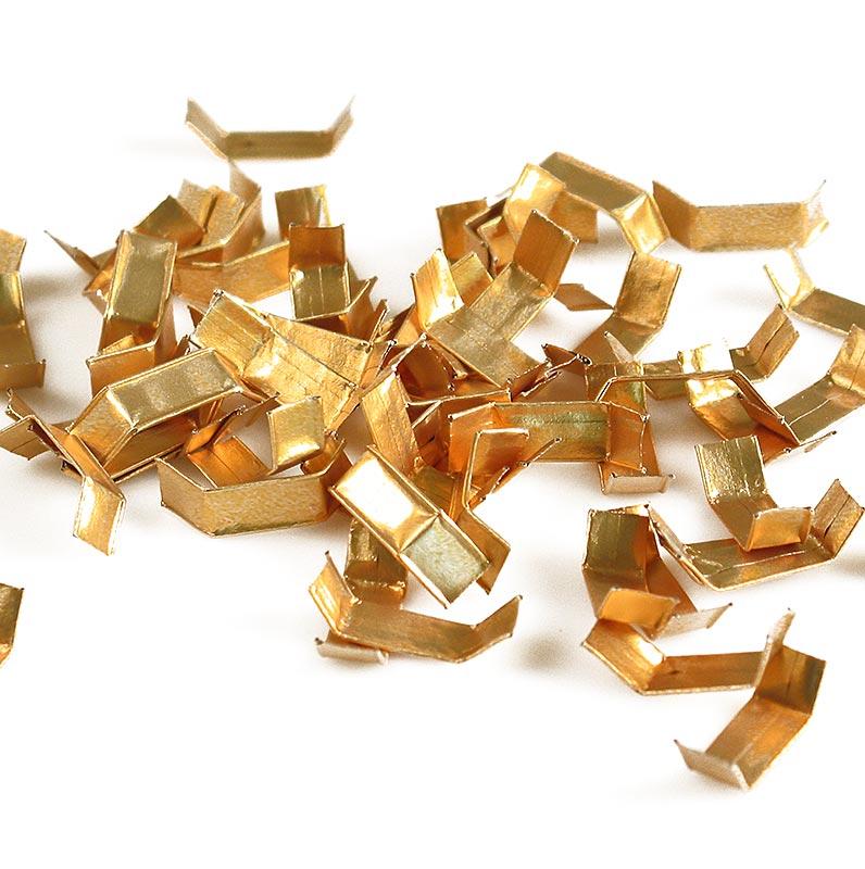 Clippfix Verschluss, gold, für Polyprop-Bodenbeutel / Zellglasbeutel - 1.000 St - Karton