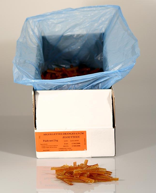 Orangeat, kandierte Orangenschale, in Streifen, Corsiglia Facor - 2 kg - Karton