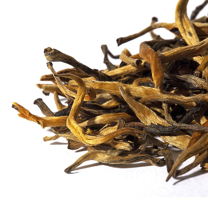 Teekadenz - Ultimate Serie - Golden Rain, chinesischer Schwarztee, China, Beutel - 30 g, 12 St a 2,5 g - Karton