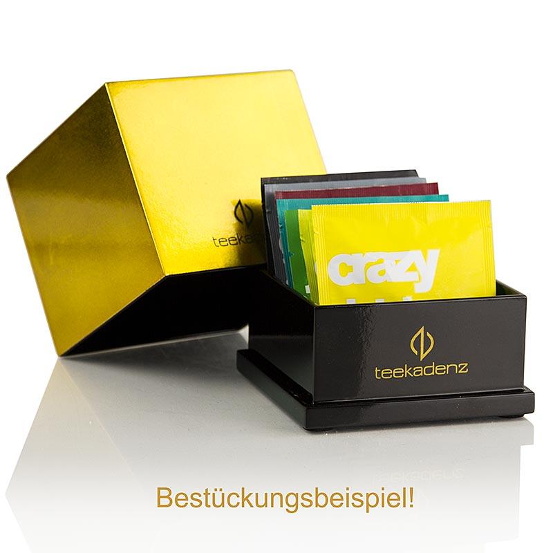 Teekadenz Lackbox Gold klein inkl. 10 Portionen verschiedene Teekadenz Tees - 20 g, 10 x2g - Box
