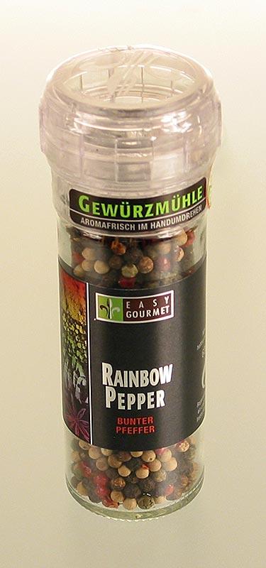 Gourmet-Gewürzmühle Rainbow Pepper, Easy Gourmet - 54 g - Mühle