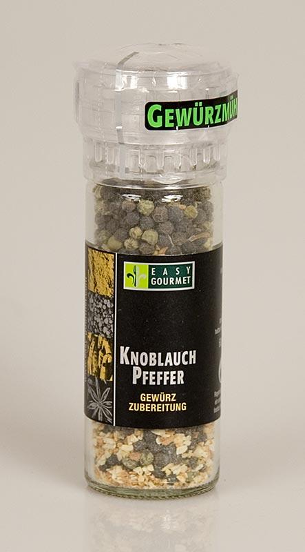 Gourmet-Gewürzmühle Knoblauch-Pfeffer, Easy Gourmet - 60 g - Mühle