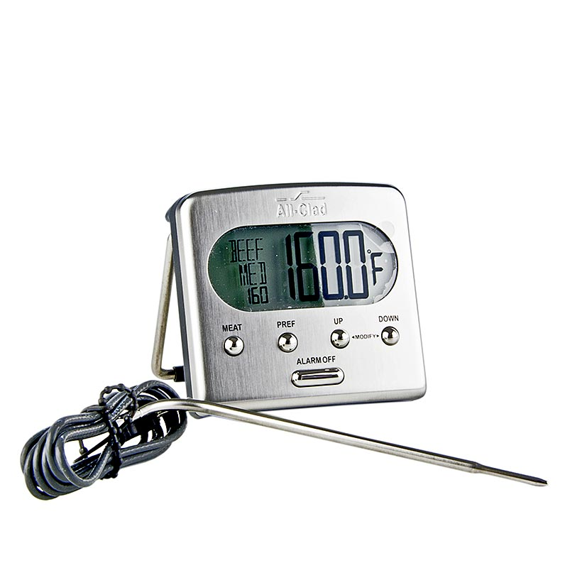 all clad bratenthermometer digital mit messsonde bis 260 c st schachtel. Black Bedroom Furniture Sets. Home Design Ideas