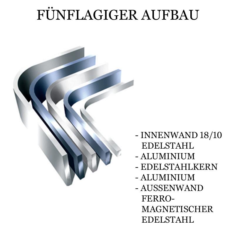 ALL-CLAD - Stielkasserolle mit Griff und Deckel, Induktion, d5 (Edelstahl) - 20,3 cm Ø - Karton