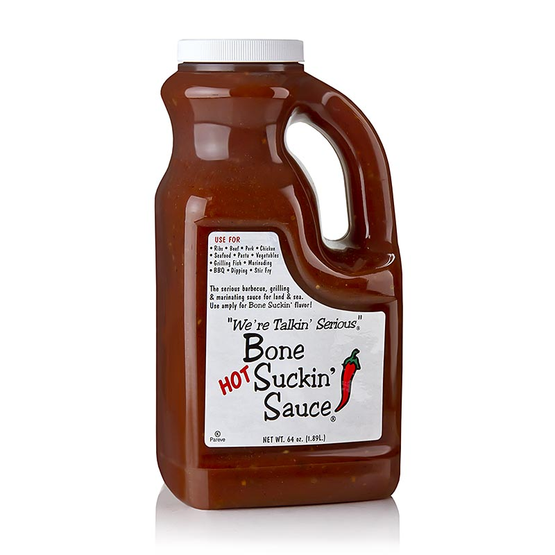 Bone Suckin Sauce Hot, BBQ Sauce, Fords Food - 1,89 l - Pe-kanist.