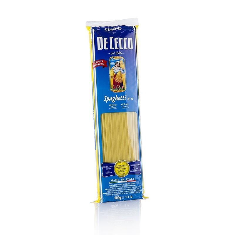 De Cecco Spaghetti No.12 - 500 g - Tüte