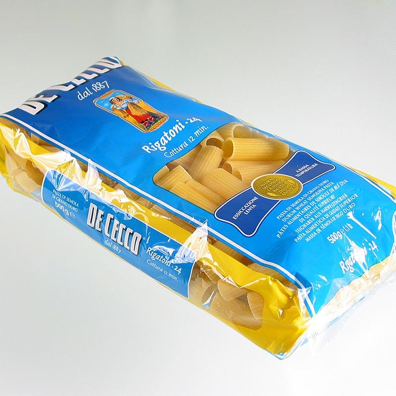 De Cecco Rigatoni, No.24 - 12 kg, 24 x 500g - Tüte