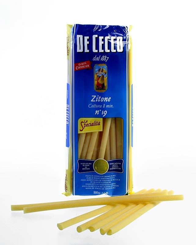De Cecco Zitone, Maccaroni, No. 19 - 12 kg, 24 x 500g - Tüte