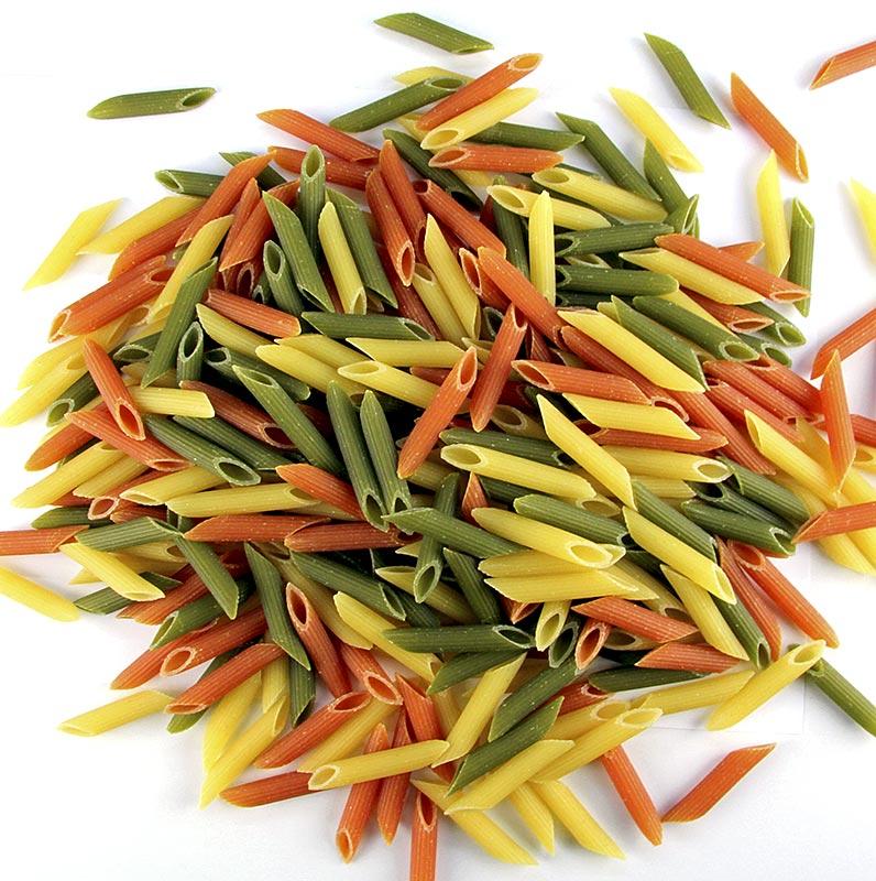 De Cecco Penne Rigate Tricolore, mit Tomate und Spinat, No.41 - 6 kg, 12 x 500g - Karton