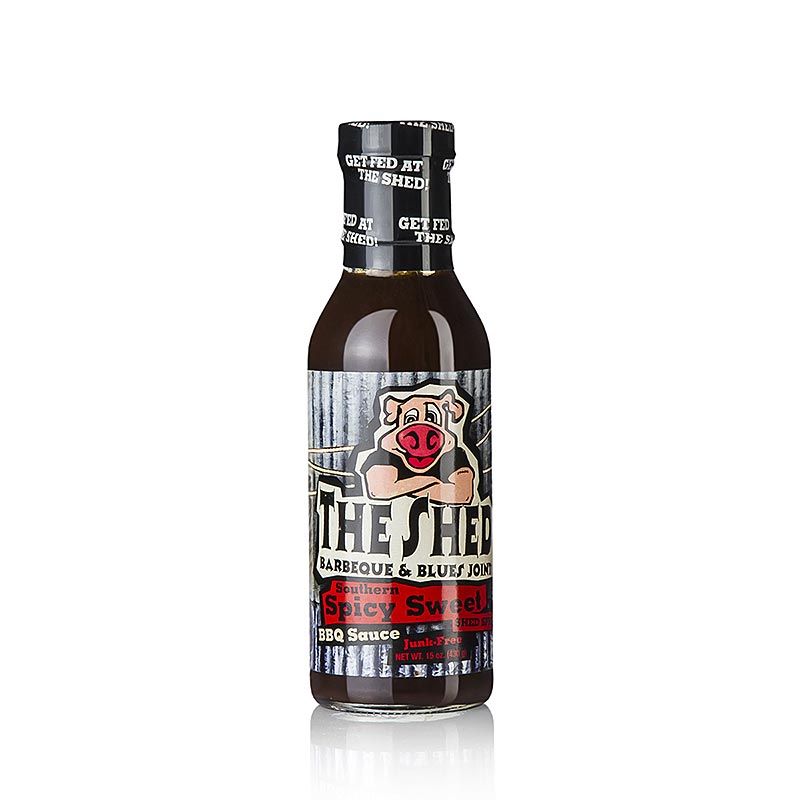 The Shed Spicy Southern Sweet BBQ Sauce, scharf - 350 ml - Glas