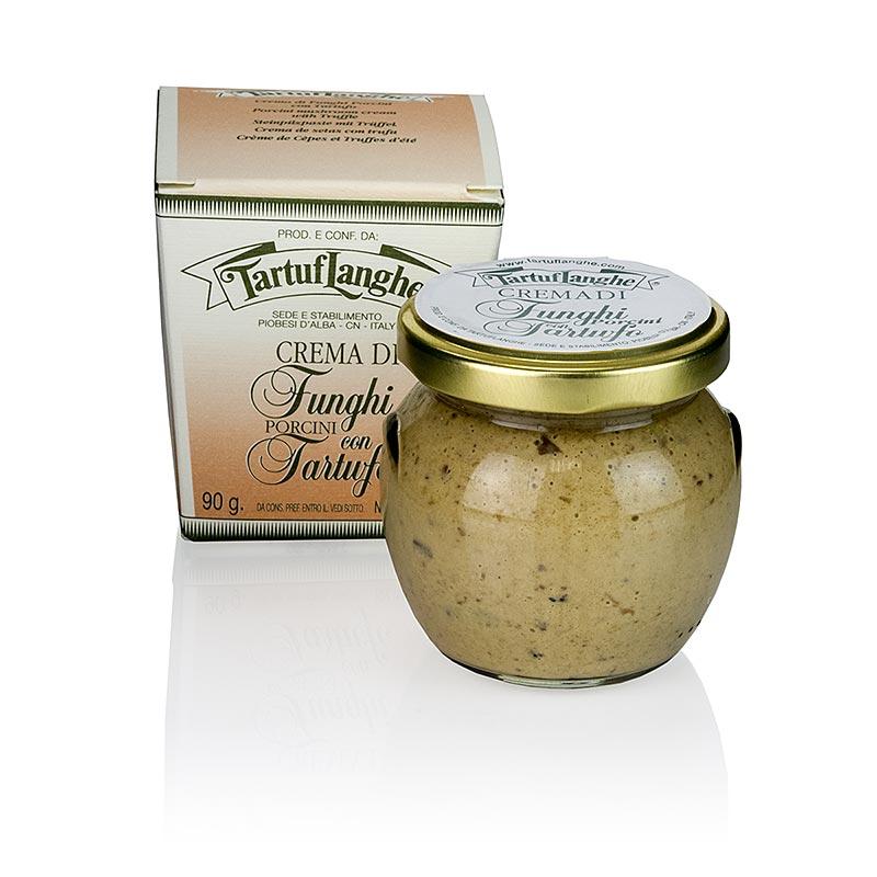 TARTUFLANGHE Steinpilz-Paste, mit Bianchetto- und Sommertrüffel - 90 g - Glas