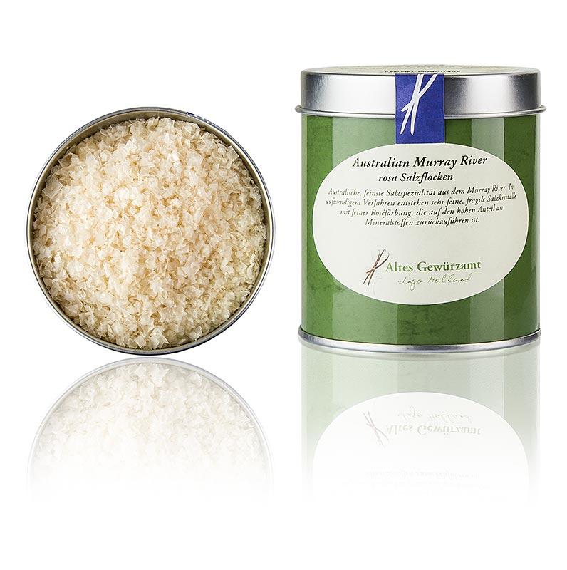 Rosa Salz Flocken - Australian Murray River Salt, Altes Gewürzamt, Ingo Holland - 90 g - Dose