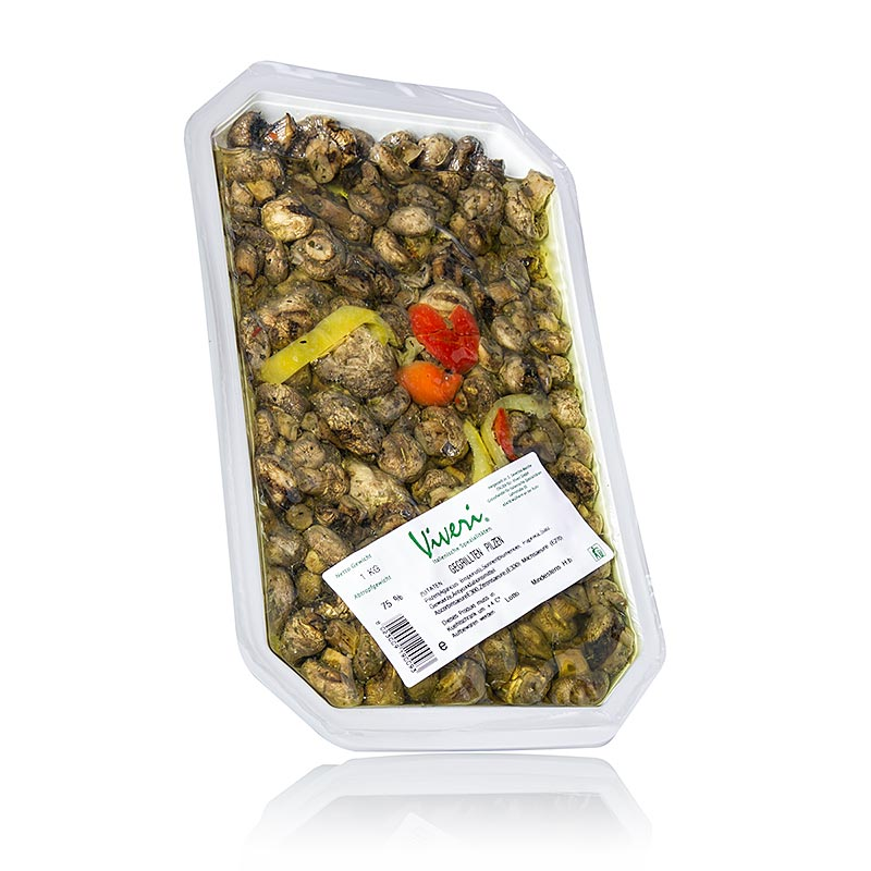 Viveri Pickled mushrooms, grilled, in sunflower oil - 1 kg - Pe-shell