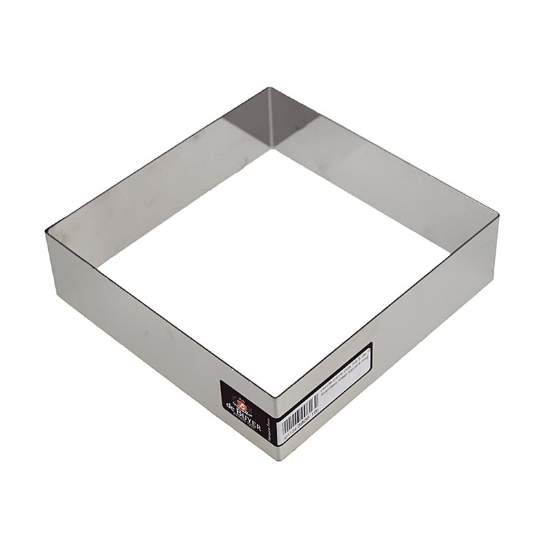 deBUYER frame, square, stainless steel, 16 x 16cm, 4.5cm high, 1 St ...