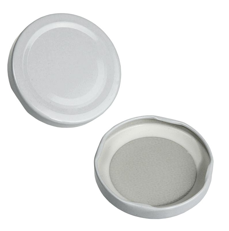 White lid for round and hexagonal glass, 63 mm, 287 ml - 1 pc - loose