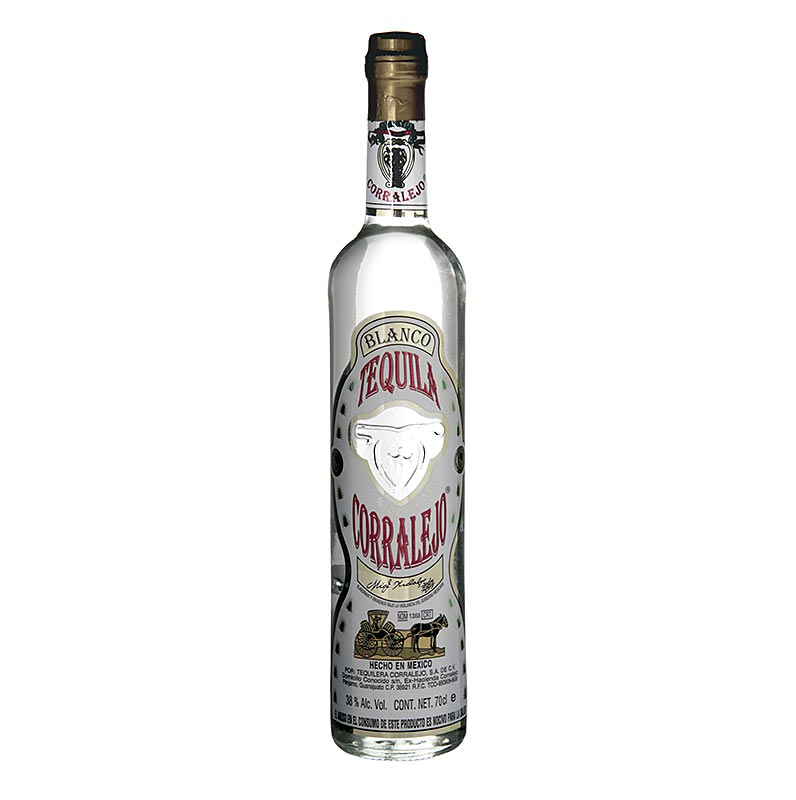 Corralejo Blanco Tequila, clear, 38% vol. - 700 ml - Bottle