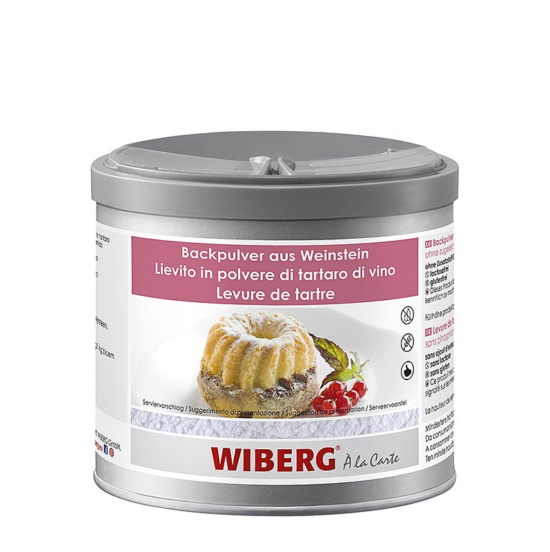 Wiberg tartar baking powder, without added phosphate - 420 g - Aroma-Safe