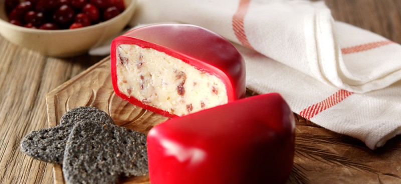 Snowdonia - Bouncing Berry, Cheddar Käse mit Cranberry, roter Wachs - 200 g - Papier