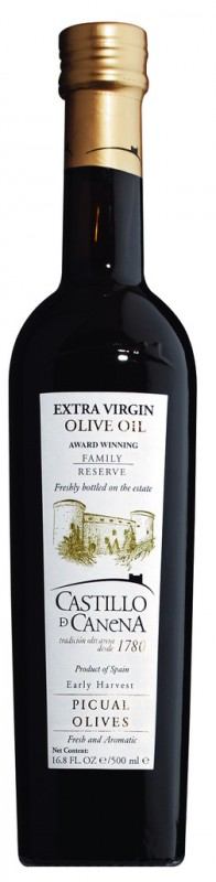 Family Reserve Picual Extra Virgin Olive Oil, Natives Olivenöl Extra, Picual, Castillo de Canena - 500 ml - Flasche