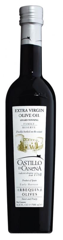 Family Reserve Arbequina Extra Virgin Olive Oil, Natives Olivenöl Extra, Arbequina, Castillo de Canena - 500 ml - Flasche