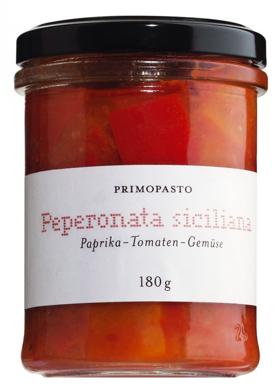 peperonata siciliana paprika tomaten gem se primopasto 180 g glas. Black Bedroom Furniture Sets. Home Design Ideas