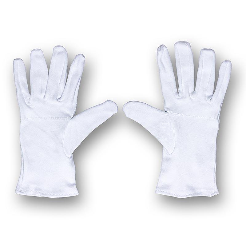 Servierhandschuh Sevilla, Paar, weiß, Einheitsgröße, für Herren, Karlowsky - 1 St - Folie